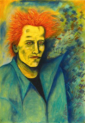 Norbert Zehm - Selbstportrait, pastell